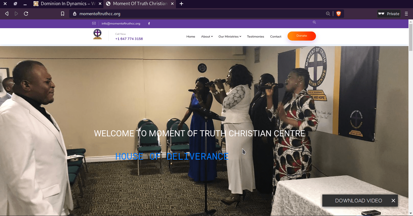 moment of truth ministries